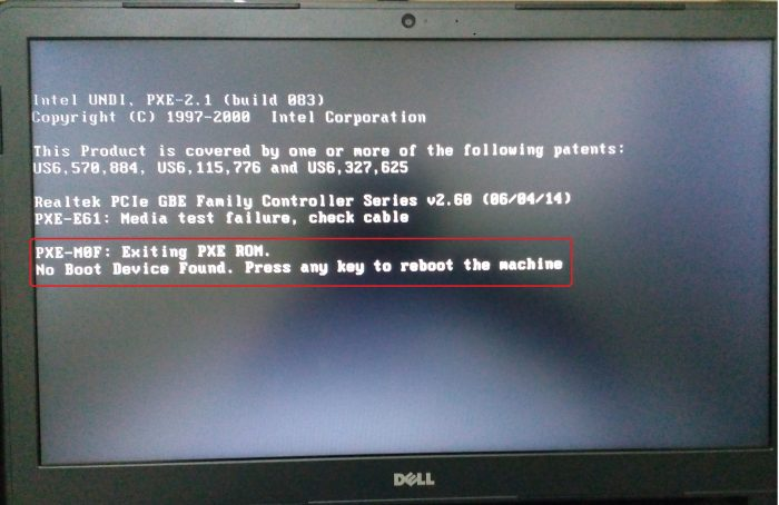 Dell 5490 Pxe Boot